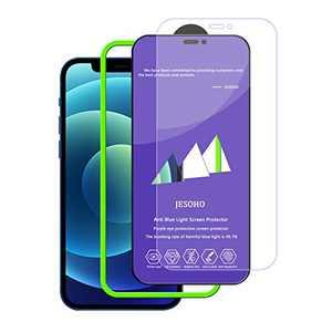 JESOHO Blue Light Blocking Screen Protector for iPhone 12 Mini (5.4''), Blue Light Filter Tempered Glass For iPhone 12 Mini, Protect your eyes.