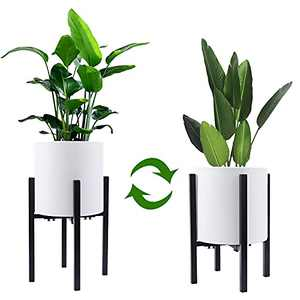 Adjustable Metal Plant Stand Indoor, ACECHA Modern Plant Holder for Plants Display Rack Fits Up to 13.6 Inch Planter