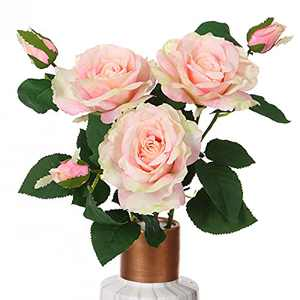 ANWBROAD Artificial Flowers Vivid Roses 3 Pack Fake Blooming Flower and Bud Immortalized Silk Bendable Flowers Multipurpose for Home and DIY Decoration ULAF02CP