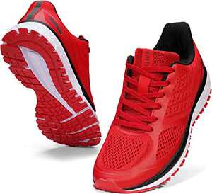 WHITIN Women Running Shoes Tennis Ladies Mujer Size 8 Female Walking Training Tennis Joggers Lightweight Workout Athletic Fitness Gym Sneakers Arch Support Zapatos Sport Exercise Active Red 39