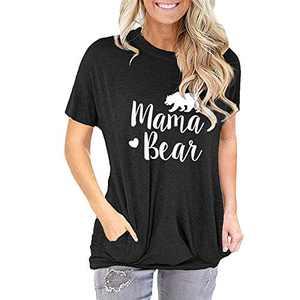TOPIA STAR 2021 Womens Crewneck Sweatshirts Color Block Short Sleeve T-Shirt Tunic Tops (Black - B, M, m)
