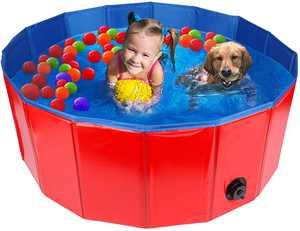FREESOO Dog Swimming Pool Pet Paddling Pool Large Foldable Dog Bath Tub Portable Outdoor Gargen Pool for Puppy Cat Kids