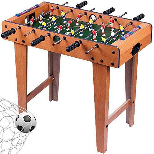"""Foosball Table Portable Mini Tabletop Billiard Soccer Competition Sports 27"""" Home Game Room Toys Mini Soccer Table"""
