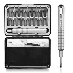 Supzone Screwdriver Sets 19 in 1 Precision Tool Sets Small Screwdriver Kit Magnetic Screwdriver Set for Repair Computer Electrical Appliances Car Replaceable Alumimum Handle Screwdriver Set