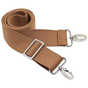 Purse Straps Replacement Crossbody Purse Strap Shoulder Strap Replacement Adjustable Belt Guitar Style Canvas Cross Body Hand Bag Strap (Brown)