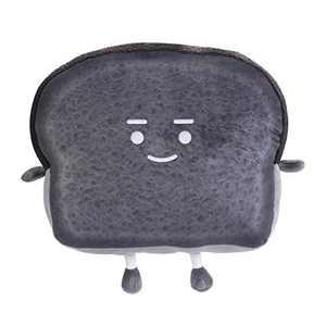 Toast Sliced Bread Pillow,Cute Plush Soft Toast Bread Food Sofa Cushion,Stuffed Animal Home Bed Sofa Decor(15.4X12.9X4.7 inch)