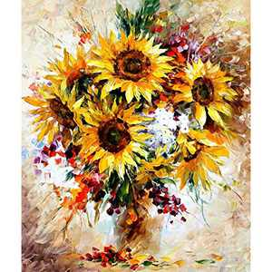 Myhozee 5D Diamond Painting Kits - 12x16in Diamond Art for Adults & Beginner & Family, Diamond Painting Accessories Canvas DIY Craft for Home Wall Decor (Sunflower)