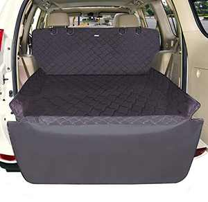 BABYLTRL SUV Cargo Liner for Dogs, Waterproof Cargo Cover with Bumper Flap Protection, Quilted Dog Seat Cover Mat 91''X53'' Machine Washable & Nonslip Backing, Fit for Trucks & SUVs & Sedans Vans.