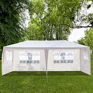 onEveryBaby Outdoor Canopy Party Wedding Tent, Sunshade Shelter,Waterproof Outdoor Gazebo Pavilion with Removable Sidewalls Upgraded Thicken Steel Tube (10FT30FT,7 Removable Sidewalls)