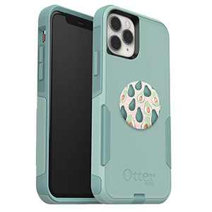 Bundle: OtterBox Commuter Series Case for iPhone 11 Pro - (Mint Way) + PopSockets PopGrip - (AVO-LANCHE)