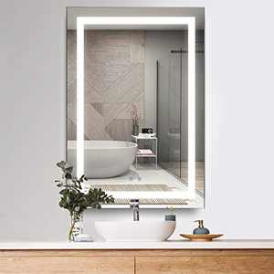 """cozzie Bathroom Mirror with LED Lights Dimmable Backlit Wall Mounted Makeup Vanity Horizontal Vertical (24"""" ×36"""")"""