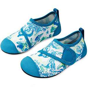L-RUN Boys Girls Water Shoes for Swim Pool Beach Surf Green 12.5-13=EU30-31