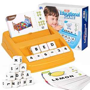 Yellcetoy Upgraded Matching Letter Game Educational Toys for 3 4 5 6 Year Olds Spelling Games Educational Learning Activities Gifts Toys for Kids Boys Girls Birthday Gifts