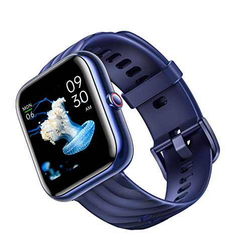 Smart Watch, Virmee VT3 Plus Fitness Tracker 1.5 in HD Touch Screen with Heart Rate Monitor Blood Oxygen Meter Sleep Step Tracking, IP68 Waterproof Smartwatch Compatible with iOS Android (Blue)
