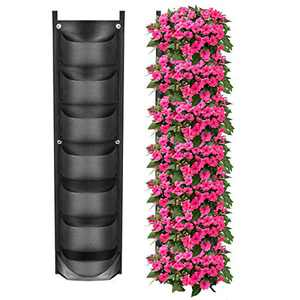 YSBER New Upgraded Deeper and Bigger 7 Pockets Vertical Wall Garden Planter Felt Wall Mount Planter Pouch for Yard Garden Home Decoration. (1 Pack-7 Pockets)YSBER New Upgraded Deeper and Bigger 1 Pack-7 Pockets Vertical Wall Garden Planter Felt Wall Mount Planter Pouch for Yard Garden Home Decoration. (1pack-7 Pockets)