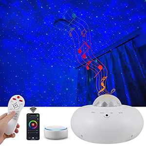 Music Galaxy Star Projector with Nebula,APP Voice Control,Alexa & Google Home Compatible Sky Night Light for Game Rooms,Home Theatre Baby Room