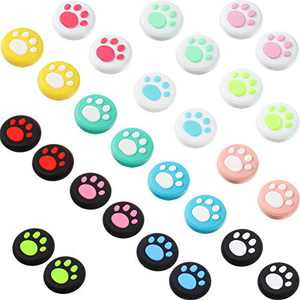 28 Pieces Cat Thumb Grips Caps Replacement Cat Claw Joystick Cap Silicone Cat Analog Stick Cover Compatible with PS5 PS4 PS3 PS2 Xbox 360 Xbox One Controllers
