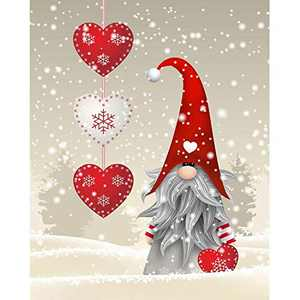 NAIMOER Christmas Diamond Painting Kits Gnome, DIY Full Drill Hat Snow Diamond Painting Kits for Adults and Beginner Diamond Arts Craft Decor, 12 X 16 Inch (Christmas Diamond Painting)
