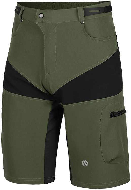 SKYSPER MTB Shorts Men Mountain Bike Shorts Loose Fit Baggy Cycling Shorts for Running Outdoor Sports