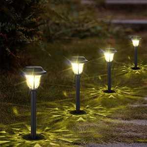 GEEDIAR 10Pack Solar Pathway Lights Outdoor, Waterproof Solar Landscape Lighting,Auto On/Off LED Solar Powered Garden Lights for Walkway,Patio,Yard,Lawn,Deck Driveway,Warm White