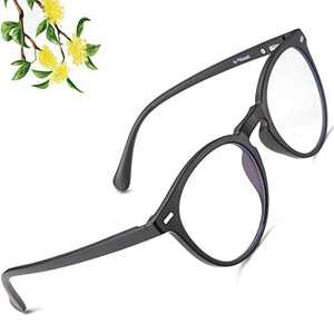 Scented Glasses, Ease Computer and Digital Eye Strain, Dry Eyes, Headaches and Blurry Vision, Computer Gaming Glasses, Vintage Thick Round Rim Frame Eyeglasses, Blocker blue light, Sleep Better.