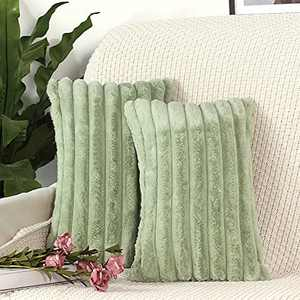 HiStock 12x20 Green Couch Throw Pillow Covers for Bed Decorative Velvet