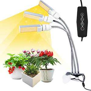 FullightGrow 3-Head gooseneck Sunlike Full Spectrum LED Grow Lights for Indoor Plants, Replaceable Bulbs, Suitable for Seeding, Growing, Blooming, Fruiting, 2 Years Warranty