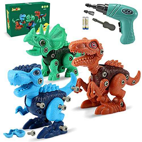 LeonMake Kids STEM Dinosaur Toys: Take Apart Dinosaur Toys for Age 3 4 5 6 7 8   Birthday Gifts Christmas Stocking Stuffers for Kids 3-8 Year Old Boys & Girls   Kids Toys