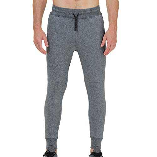 snowhite Mens Jogger Sweatpants Pants Casual,Mens Leisure Fashion Sport Sweatpants Trousers with Double Phone Pockets and Elastic Waist Dark Gray