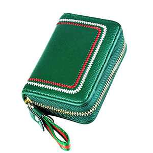 Zipper Card Cases Holder for Women, Small Card Case Womens Card Holder Wallet, Small Accordion Wallet Card Organizer