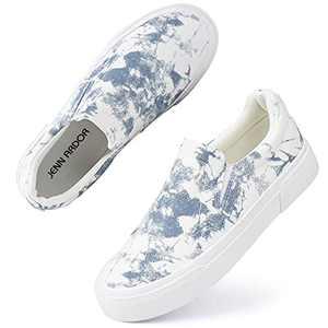 JENN ARDOR Slip On Shoes Fashion Sneakers Casual Tennis Shoes Comfortable Walking Flats for Women