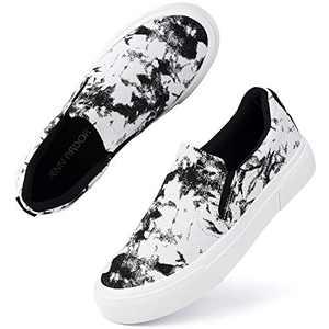 JENN ARDOR Womens Slip On Shoes Fashion Sneakers Comfortable Walking Flats Casual Shoes