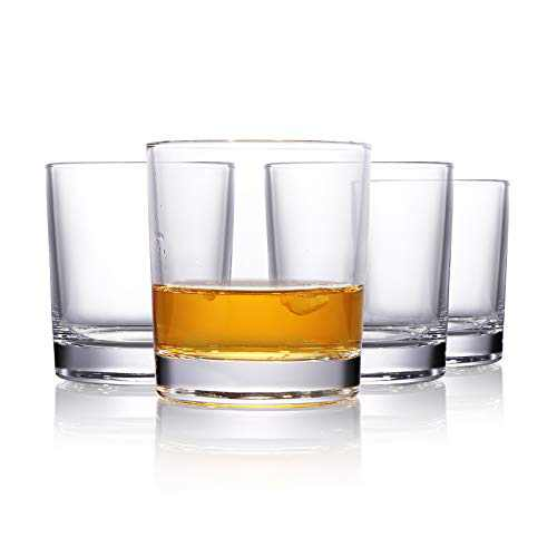 Old Fashioned Whiskey Glasses, 10 Ounce Drinking Glasses for Water, Beverages Cocktails Bourbon, Rocks Glasses for Party, Bars, Restaurants Home Father's Day Gift- Set of 4
