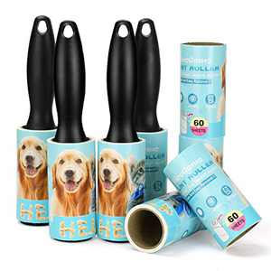 Pet Extra Sticky Hair Lint Roller- 480 Sheets Portable Lint Remover Brush - Works Great on Pet Hair, Clothes, Furniture