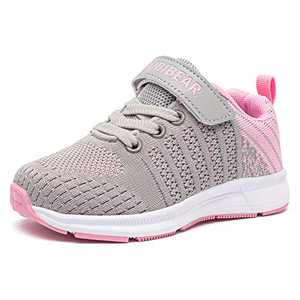 GUBARUN Toddler Boys and Girls Lightweight Athletic Sneakers Casual Running Shoes(12.5,Grey Pink)