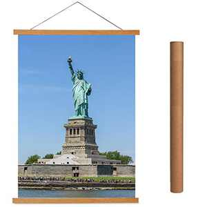 Magnetic Poster Hanger 12x16 12x18 12x24 Light Wood Decorative Wall Poster Frame for Prints, Photos, Pictures, Maps, Scrolls,Canvas Artwork