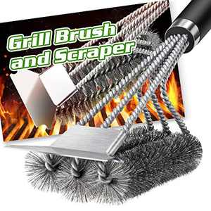 BBQ Grill Brush and Scraper Stainless Steel, 18 inch Extra Strong BBQ Cleaner Accessories