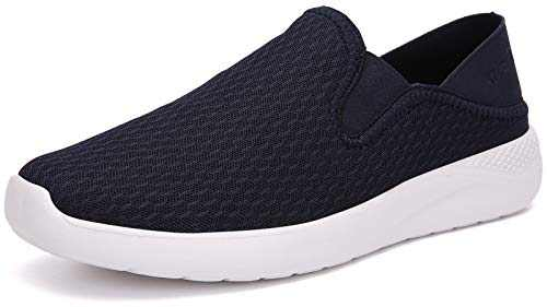 KUBUA Men's Mesh Slippers Indoor Breathable House Shoes Outdoor Slip-On Loafer