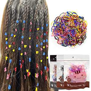 1500 Mini Rubber Bands, Soft Mini Rubber Hair Ties Kids Hair Bands Multiple Color Hair Scrunchies Hair Coils Accessories for Women Girls