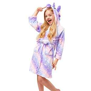 Soft Girl Bathrobe Hoodie, Unisex Hooded Gift for Girl and Boys Light Purple