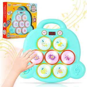 Small Fish Musical Pounding Toy for Toddlers and Kids, Mini Drum Toy for Hand-Eye Coordination and Fine Motor Skills, Interactive Educational Learning Tool for Boys and Girls Age 3 Years and Above