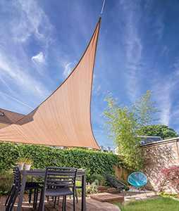 YUFOL Sun Shade Sail Canopy 12' x 12' x 12' Triangle UV Block Cloth Cover for Outdoor Patio Garden Yard Patio Backyard Lawn,Shade Cloth -Sand Khaki…