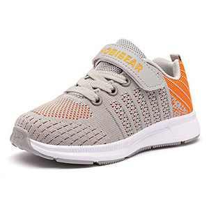 GUBARUN Toddler Boys and Girls Lightweight Athletic Sneakers Casual Running Shoes(3.5,Grey Orange)