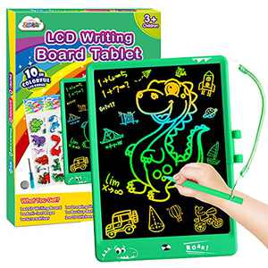 ZMLM LCD Writing Tablet for Kid: 10 Inch Electronic Drawing Art Pad Digital Erasable Magic Learning Doodle Sketch Board Toddler Travel Activity Game Toy for Boy Girl 3 4 5 6 7 Year Old Birthday Gift