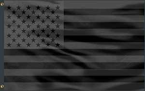 Huanranyx All Black American Flag 3x5 Feet - Vivid Color and UV Resistant - Black USA Banner - Double Stitched - Polyester Decor with Brass Grommets Indoor or Outdoor