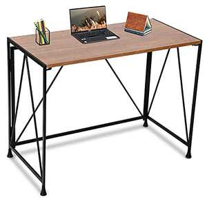 "Gero Crew Computer Desks for Small Spaces for Home Office and for Small Spaces 40"" Writing Desk, Folding desks for Small Spaces, Metal Frame, Oak"