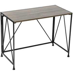 """Gero Crew Computer Desks for Small Spaces for Home Office and for Small Spaces 40"""" Writing Desk, Folding desks for Small Spaces, Metal Frame, Classic"""