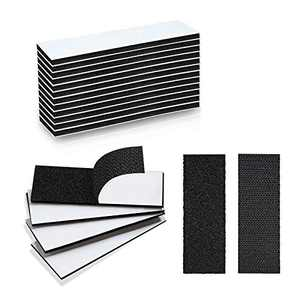 LISM 12 Sets 1.2 X 4 Inch Hook and Loop Tape Self Adhesive Sticky Back Fastener Heavy Duty Strip Interlocking Mounting Tape for Home Office