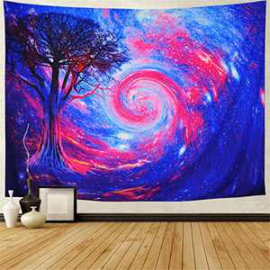 Generleo Galaxy Tapestry Space Stars Tapestry Psychedelic Starry Sky Wall Tapestry Tree Tapestry Mystic Universe Cosmic Nebula Tapestry Wall Hanging for Bedroom