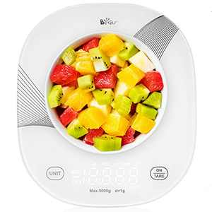 Bear Smart Food Scale,Bluetooth Digital Kitchen Scale for Baking Cooking Food and Weight Loss with Smartphone App (White)